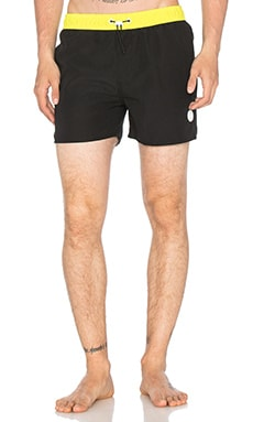 Native Youth Toggle Colour Block Swim in Black