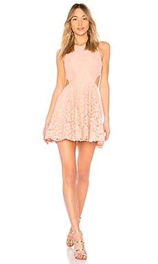 Купить Платье с вырезами brad - NBD розового цвета