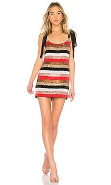 Купить Мини-платье с пайетками и завязками suri - NBD красного цвета