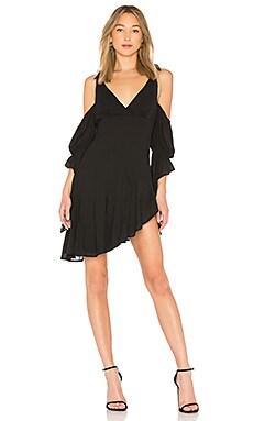 Купить Платье с прорезями на плечах into the rain - NBD черного цвета