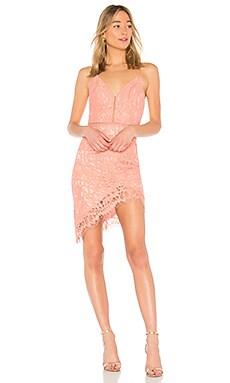 Купить Кружевное мини платье only yours - NBD цвет коралл