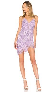 Купить Кружевное мини платье only yours - NBD бледно-лилового цвета