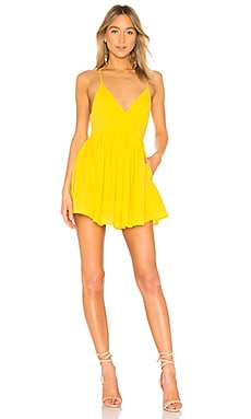Купить Облегающий верх и широкая юбка мини suki - NBD цвет календула