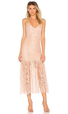 Купить Платье миди brielle - NBD розового цвета