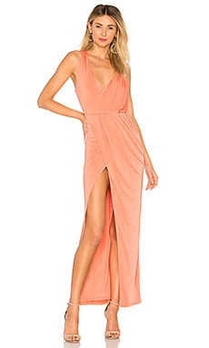 Купить Вечернее платье подчеркивающее талию sangria - NBD цвет коралл