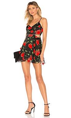 Купить Облегающий верх и широкая юбка мини romeo - NBD красного цвета