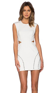 NBD x Naven Twins Arch Nemesis Dress in Off White