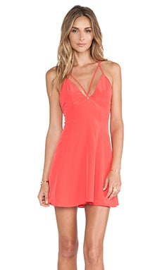Crave Fit & Flare Dress in Coral