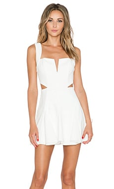 x REVOLVE Sway Me Fit & Flare Dress en Blanc