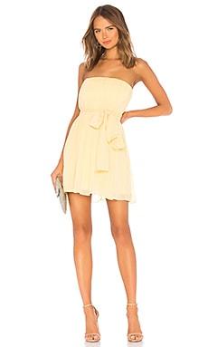 Купить Мини-платье без бретель paradisco - NBD, Платье с юбкой солнце, Индия, Желтый