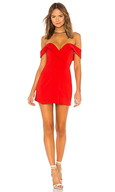 Купить Мини-платье с открытыми плечами ferreira - NBD, Коктейльное, Китай, Красный