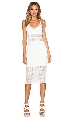 NBD Shut It Down Midi Dress in Ivory