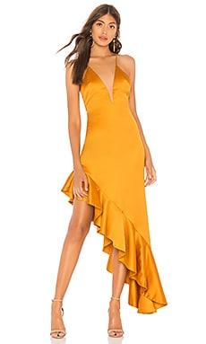 Фото - Асимметричное платье that love - NBD оранжевого цвета