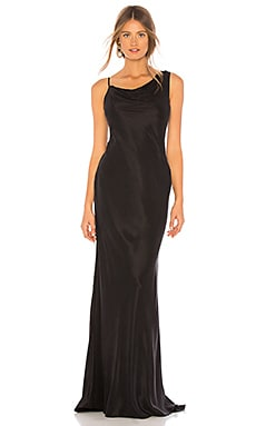 Фото - Вечернее платье с открытой спиной anvi - NBD черного цвета
