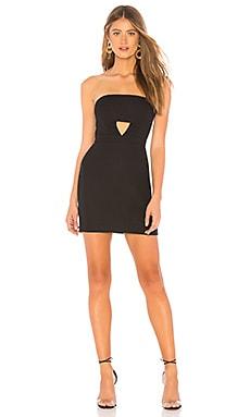 Фото - Мини-платье без бретель emma - NBD черного цвета