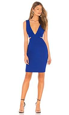 Фото - Мини платье с вырезом sophia - NBD цвет королевский синий