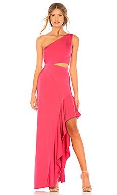 Купить Вечернее платье с открытым плечом cressida - NBD розового цвета
