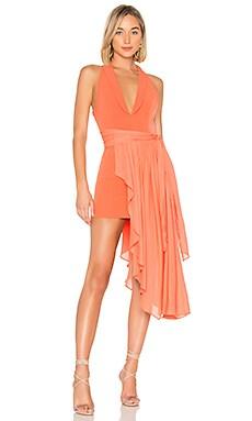 Купить Мини платье с асимметричным подолом omri - NBD красного цвета