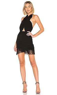 Купить Мини платье с запахом violet - NBD черного цвета