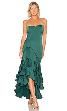 Купить Вечернее платье без бретелек omar - NBD зеленого цвета