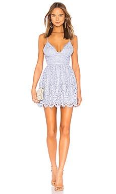 Купить Облегающее сверху платье-мини с широким низом give it up - NBD бледно-лилового цвета
