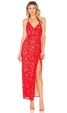 Купить Вечернее платье с высоким разрезом georgia - NBD красного цвета