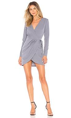 Купить Мини-платье с длинным рукавом lola - NBD аспидно-серого цвета