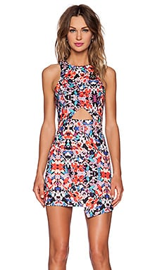 NBD x Naven Twins Reality Bodycon Dress in Flower Child