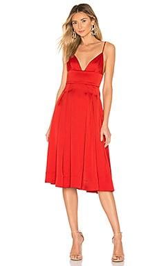 Платье миди henri - NBD, Красный, Коктейльное