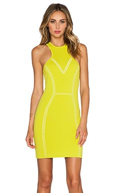 NBD x Naven Twins My Oh My Bodycon Dress in Chartreuse