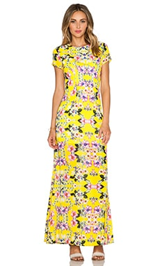 NBD x Naven Twins Into the Light Maxi Dress in Canary Floral