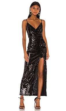 Вечернее платье chrissy - NBD, Черный, С блёстками и пайетками
