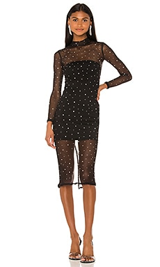 Brittany Embellished Midi Dress NBD $228