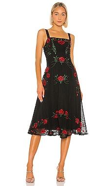 Платье миди alejandro - NBD В цветочек фото