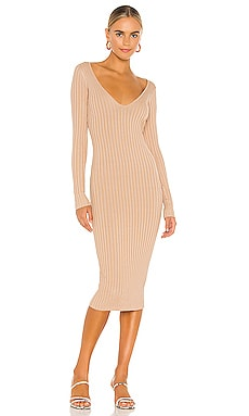 Bekah Deep V Midi Dress