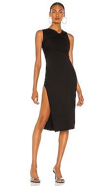 Платье миди twisted - NBD Черный фото