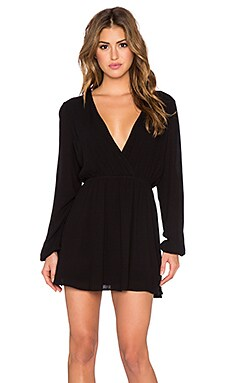 NBD x Naven Twins Deep V Mayhem Dress in Black