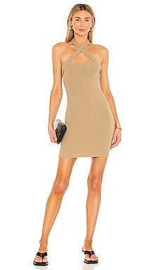 YVETTE ホルターネックドレス NBD $128