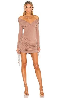 Long Sleeve Drawstring Mini Dress NBD $168