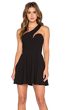 NBD x Naven Twins Back It Up Fit & Flare Dress in Black