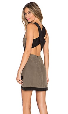 x REVOLVE Shades Of Cool Dress in Army Green & Black