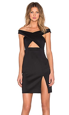 NBD x REVOLVE Criss Cross Midi Dress in Black