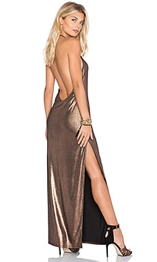 Dancin Queen Maxi Dress in Copper