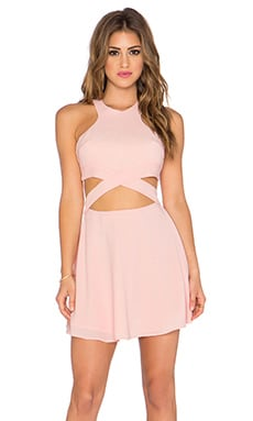 x Naven Twins Chromat Fit & Flare Dress in Blush Pink