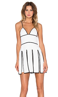 NBD Outlines Dress in White & Black