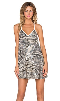 NBD Silver Linings Dress in Silver