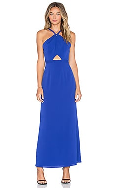 NBD x Naven Twins Real Talk Maxi Dress in Dark Cobalt