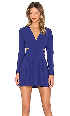 NBD x Naven Twins Yes Please Fit & Flare Dress in Dark Cobalt