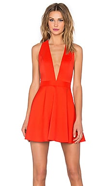 NBD x Naven Twins Te Amo Fit & Flare Dress in Red