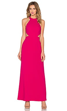 x Naven Twins XO Maxi Dress in Berry